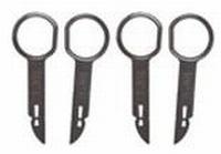 4 ontgrendelingssleutels