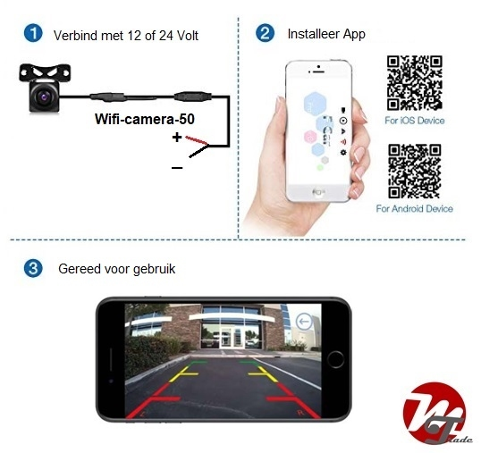 Wifi camera-set 50 met nummerplaathouder